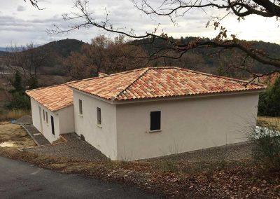 Construction de villa - Couverture tuiles rondes 4 pentes