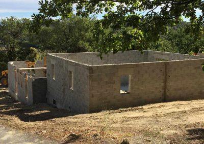 Construction villa - Élévation des murs