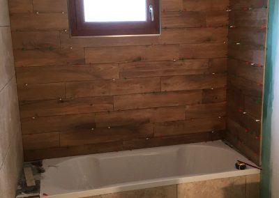 Aménagement salle de bain - Pose de carrelage sol et mur