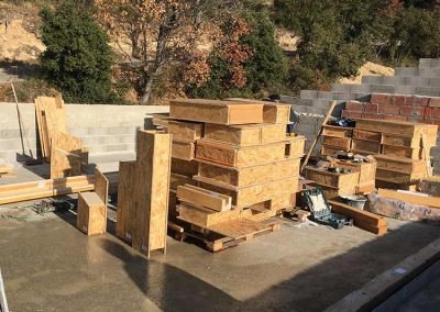 Approvisionnement briques de bois