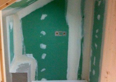 Création d'une salle de bain sous comble - Doublage placoplâtre et étanchéité