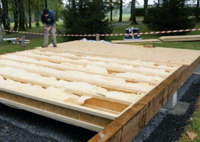 Plancher sur longrines bois ou béton ou dalle